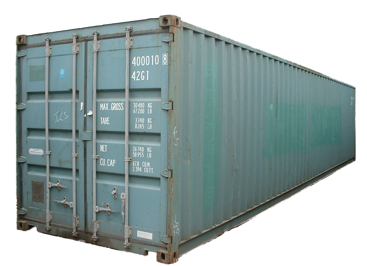 40FT Standard Cargo Worthy Shipping Container