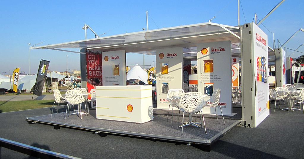 Tradeshow marketing and outdoor exhibition space