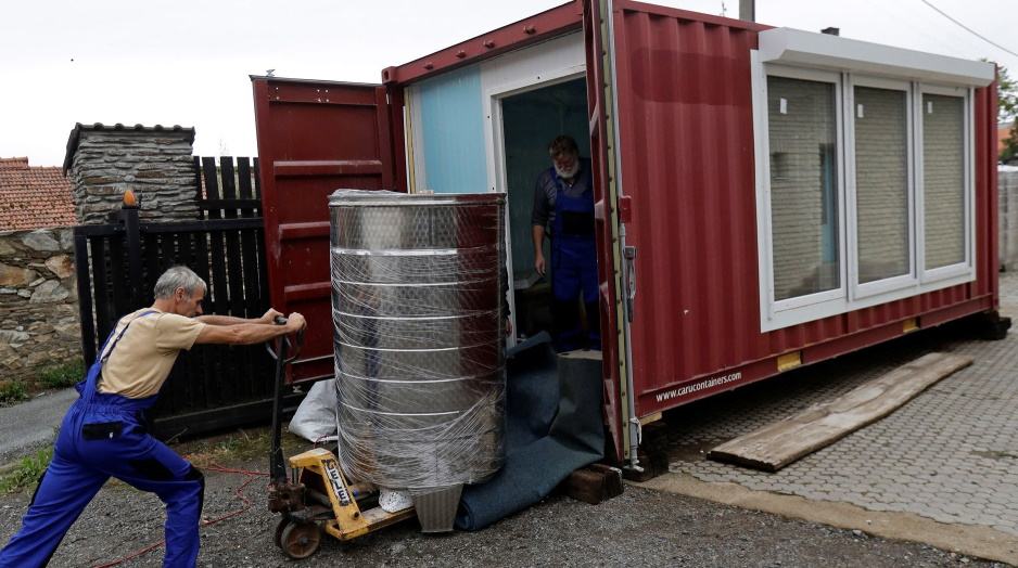 Shipping container brewery