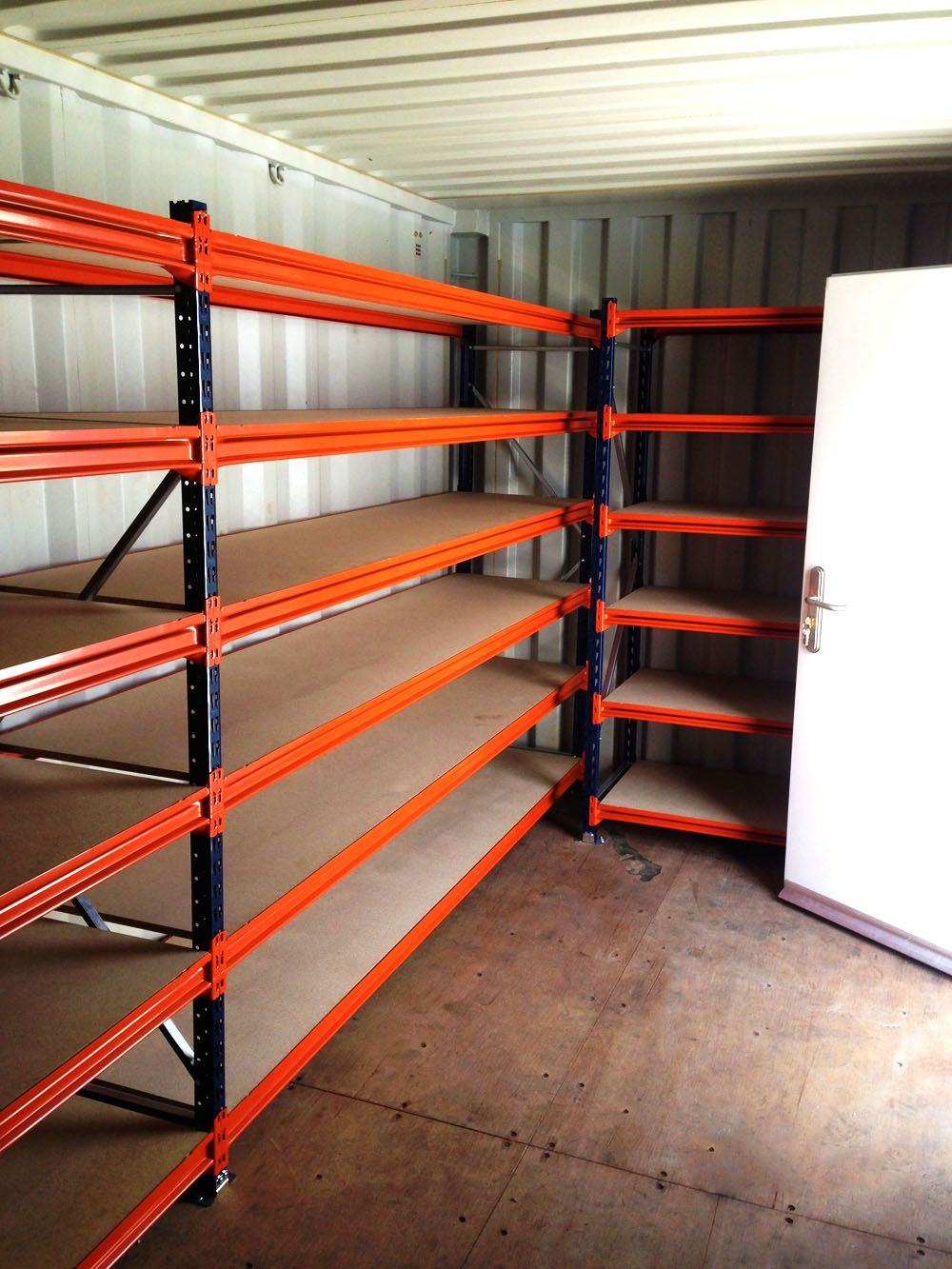shipping container storage shelves