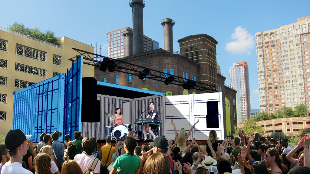 shipping container performance stage