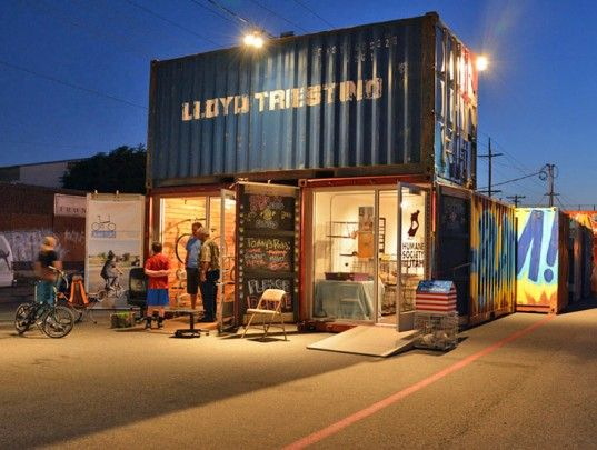 Shipping container retail shop