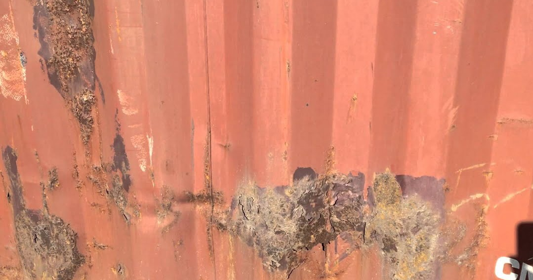 shipping container rust