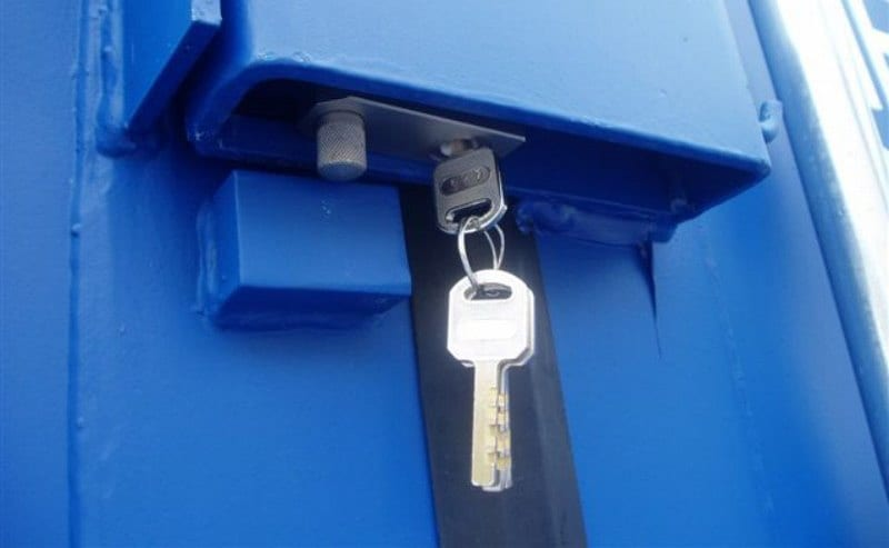 shipping container security lock