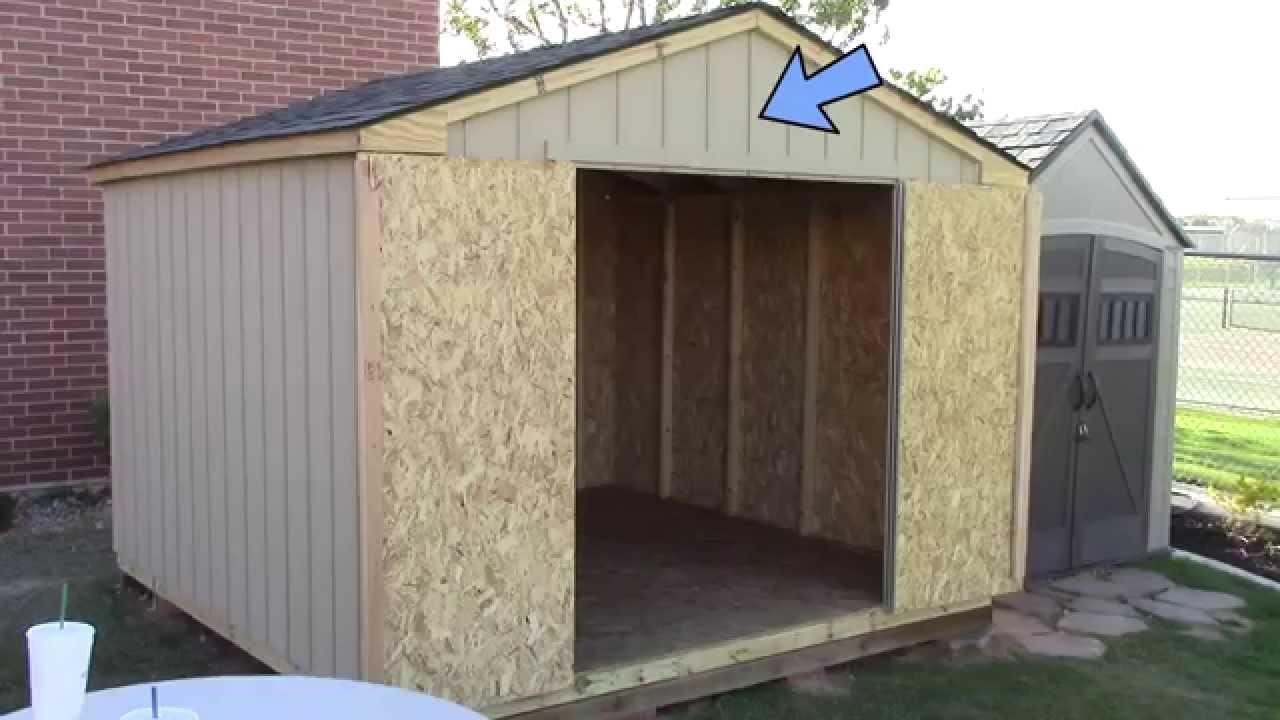 wood storage shed